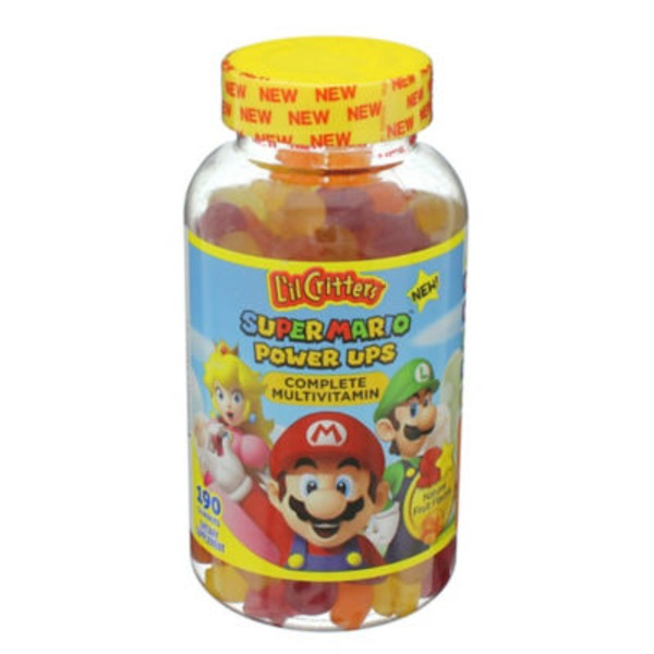 L'il Critters Super Mario Power Ups Complete Multivitamin Gummies Dietary Supplement