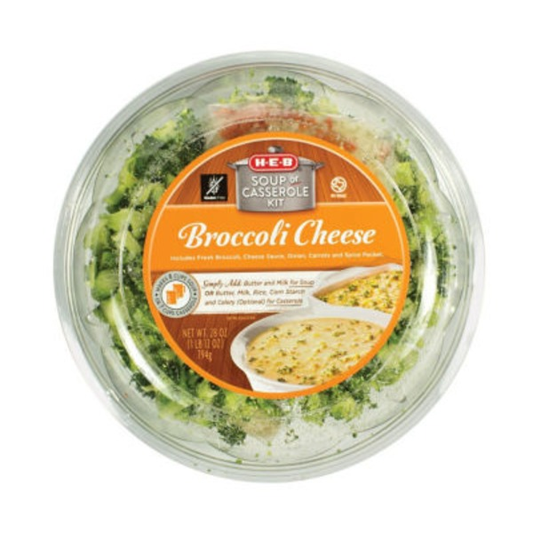H-E-B Broccoli Cheese Soup Kit