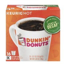Keurig Hot Dunkin' Donuts Medium Roast Decaf Coffee Pods- 16 CT