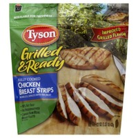 Tyson Frozen Grilled And Ready Chicken Breast Strips