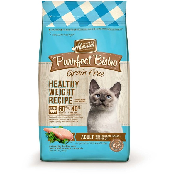 Merrick Purrfect Bistro Grain Free Healthy Weight Recipe Dry Adult Cat Food