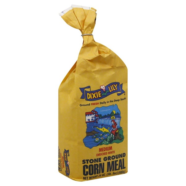 Dixie Lily Corn Meal, Stone Ground, Medium Enriched White