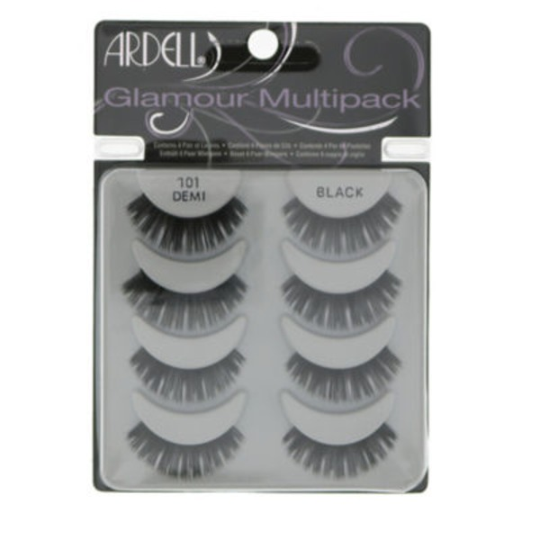 Ardell 101 Glamour Demi Black Eyelashes Multipack