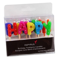 Papyrus Happy Birthday Candles