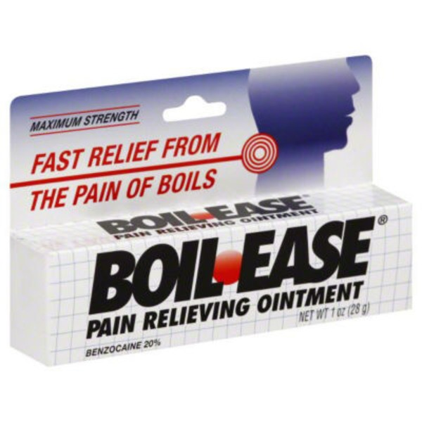 Boil Ease Pain Relieving Ointment, Maximum Strength