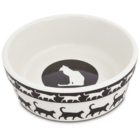 Harmony Catwalk Ceramic Cat Bowl 1.75