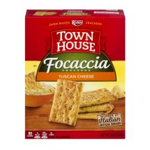 Town House Focaccia Crackers Tuscan Cheese, 9.0 OZ