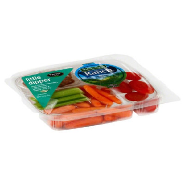 Taylor Farms Little Dipper Vegetable Snack Tray with Hidden Valley Ranch Dressing
