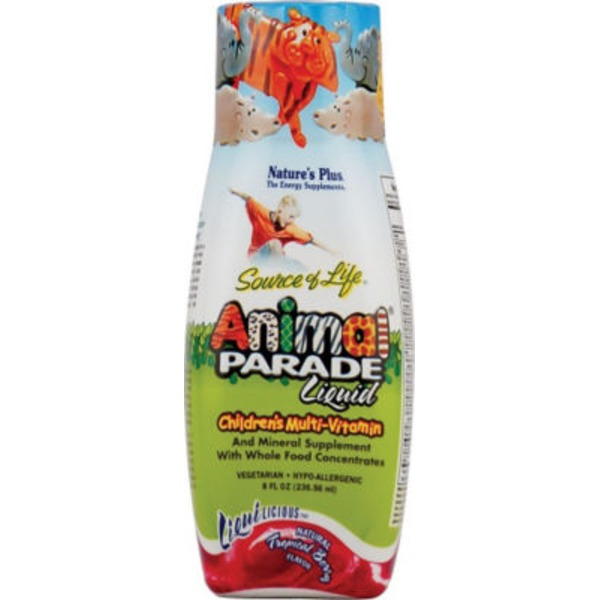 Nature's Plus Animal Parade Natural Tropical Berry Flavor Vitamin Liquid