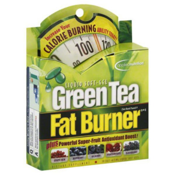 Applied Nutrition Green Tea Fat Burner Dietary Supplement Liquid Soft Gels - 30 CT