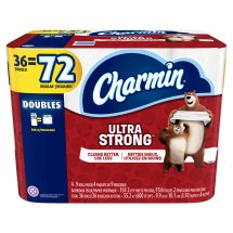 Charmin Ultra Strong Toilet Paper, 36 Double Rolls
