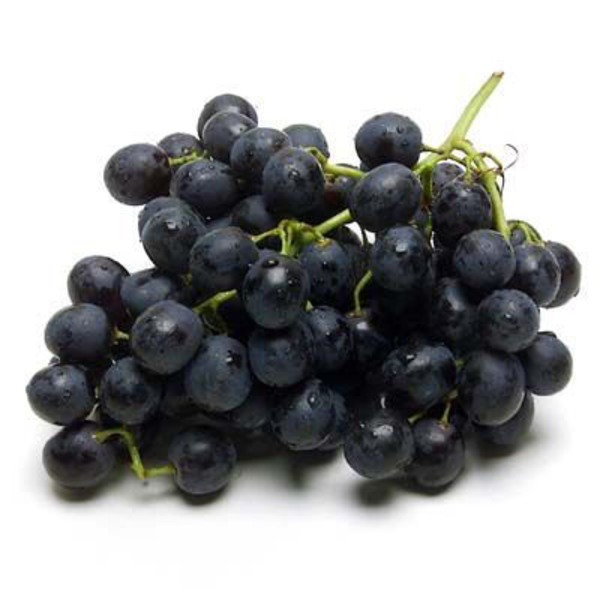 Fresh Organic Black Seedless Grapes