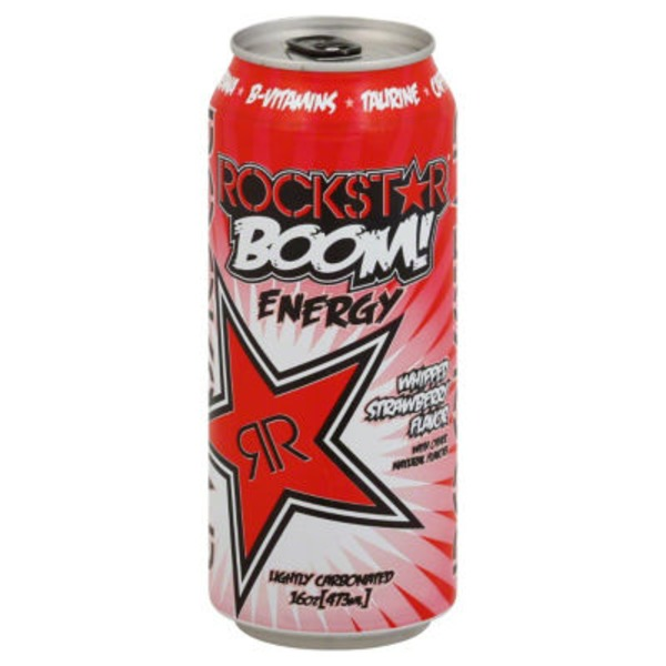 Rockstar Boom Energy Drink Whipped Strawberry