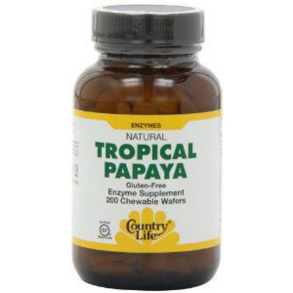 Country Life Tropical Papaya Enzymes Wafers