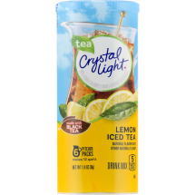 Crystal Light Drink Mix, Lemon Iced Tea, 1.4 Oz, 6 Packets, 1 Count