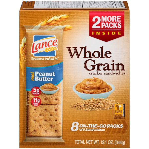 Lance Whole Grain Peanut Butter Sandwich Crackers