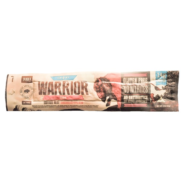 Tanka Warrior Bar, Buffalo Meat with Cranberries and Pepper Blend