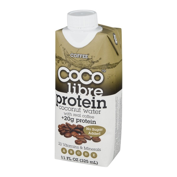 Coco Libre Organic Protein Coconut Water With Real Coffee