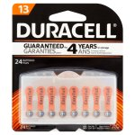Duracell Hearing Aid Size 13 Batteries, 24 count