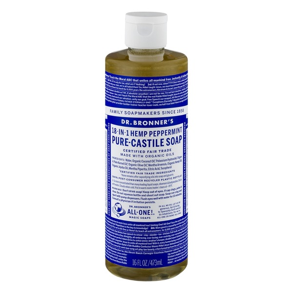 Dr. Bronner's Magic All-One Dr. Bronner's 18-In-1 Hemp Peppermint Pure-Castile Soap