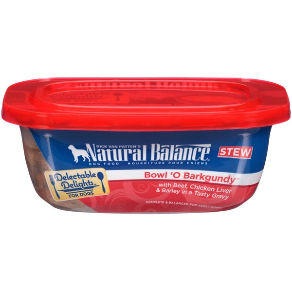 Natural Balance Delectable Delights Bowl 'O Barkgundy Stew Dog Food