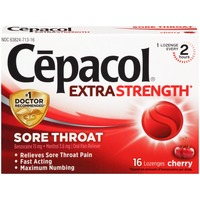 Cepacol Extra Strength Cherry Lozenges Sore Throat Reliever