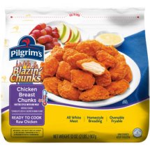 Pilgrim's Blazin' Chunks Spicy Chicken Breast Chunks, 32 oz