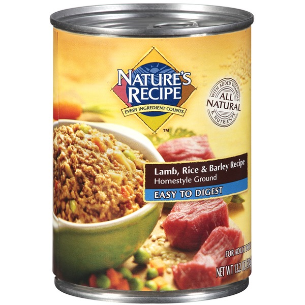 Nature's Recipe Easy to Digest Lamb Rice & Barley Recipe Homestyle Ground Dog Food