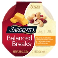 Sargento Balanced Breaks Balanced Breaks Natural Sharp Cheddar Cheese, Sea-Salted Cashews & Cherry Juice-Infused Dried Cranberries