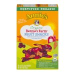 Annie's® Gluten Free Bernie's Farm Organic Fruit Snacks 5 ct 4 oz, 0.8 OZ