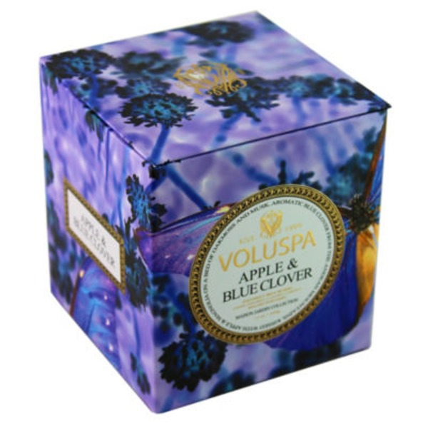 Voluspa Box Candle Apple Blue Clover