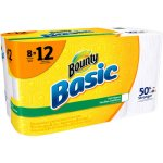 Bounty Basic Giant Roll Paper Towels, 66 sheets, 8 rolls