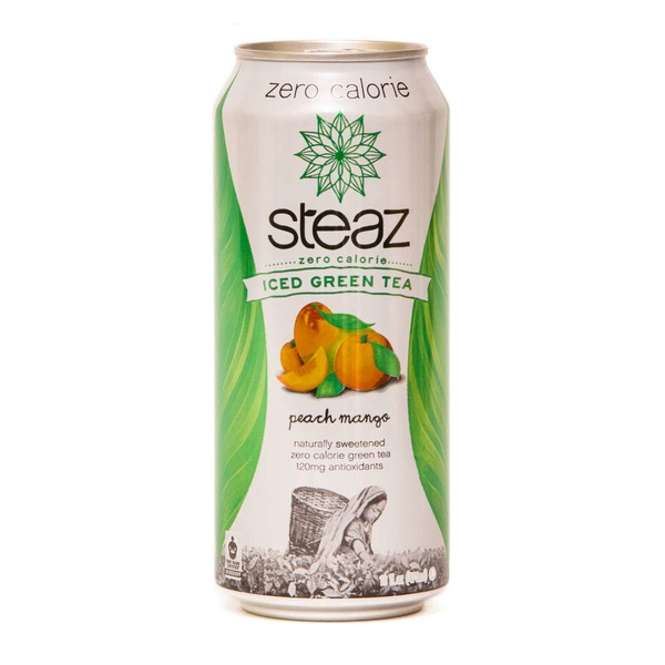 Steaz Iced Green Tea Zero Calorie Peach Mango