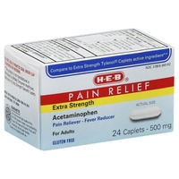 H-E-B Extra Strength Pain Relief 500mg Acetaminophen Caplets