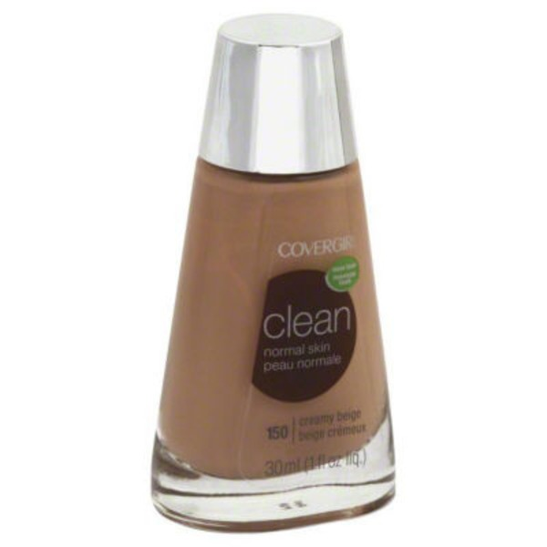 CoverGirl Clean COVERGIRL Clean Makeup Foundation, Creamy Beige 1 fl oz (30 ml) Female Cosmetics