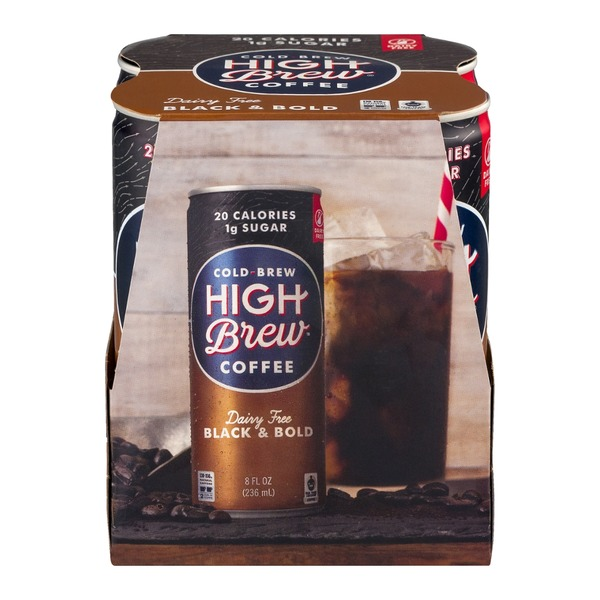 High Brew Cold-Brew Coffee Dairy Free Black & Bold - 4 CT