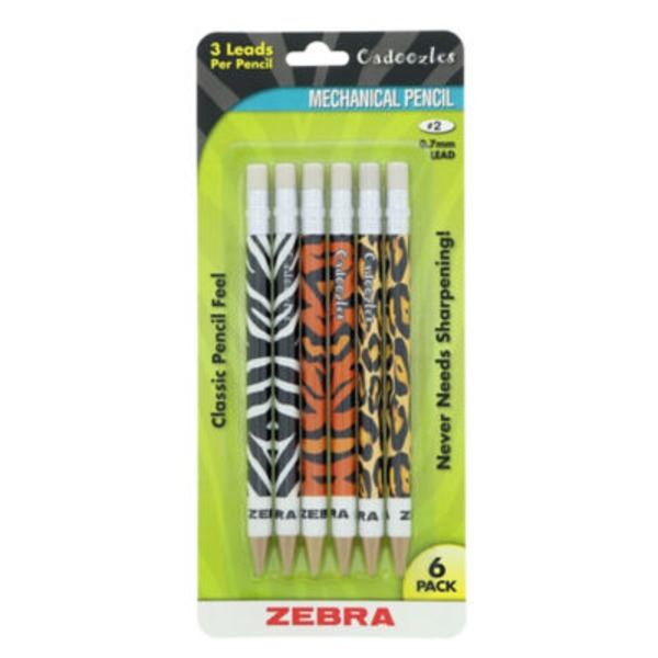 Zebra Cadoozles Animals Mechanical Pencil