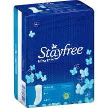 Stayfree Ultra Thin Regular Pads, 44 count
