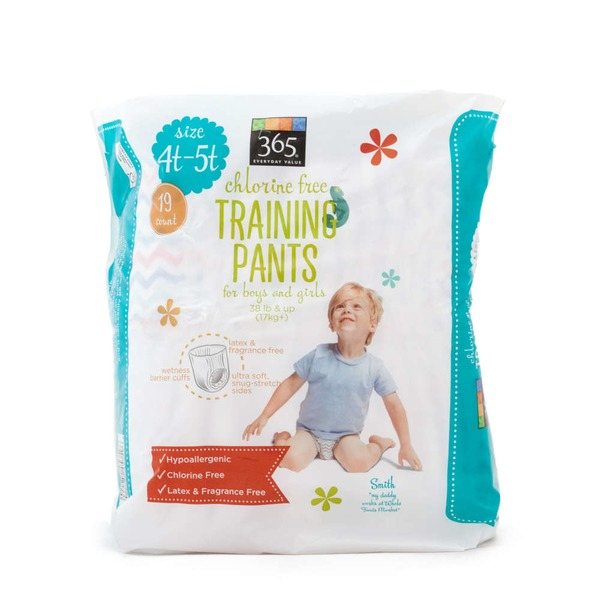 365 Chlorine Free 4T-5T Training Pants for Boys and Girls
