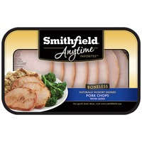 Smithfield Anytime Favorites Boneless Natural Hickory Smoked Pork Chops