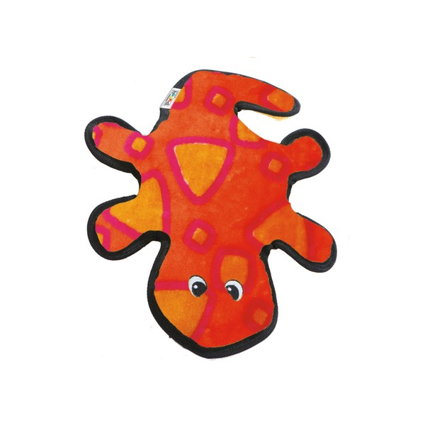 Outward Hound Invincible Red & Orange Gecko Dog Toy