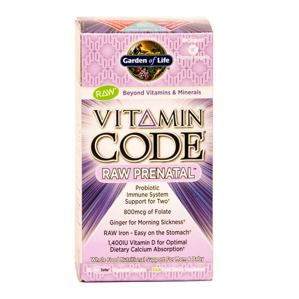 Garden of Life Vitamin Code Raw Prenatal Probiotic Immune Support System for Two