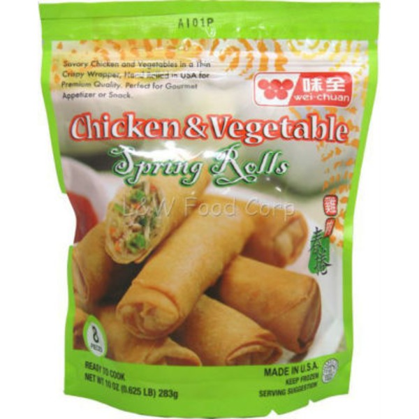 Wei Chuan Chicken & Vegetable Spring Rolls