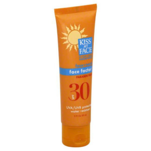 Kiss My Face Sunscreen Face Factor SPF 30