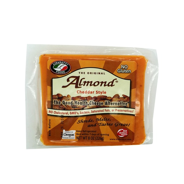 Lisanatti Foods Almond Cheddar Style Cheese Alternative Block