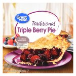 Great Value Traditional Triple Berry Pie, 34 oz