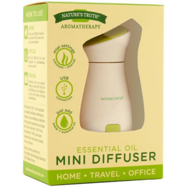 Nature's Truth Organic Aromatherapy Essential Oil Mini Diffuser