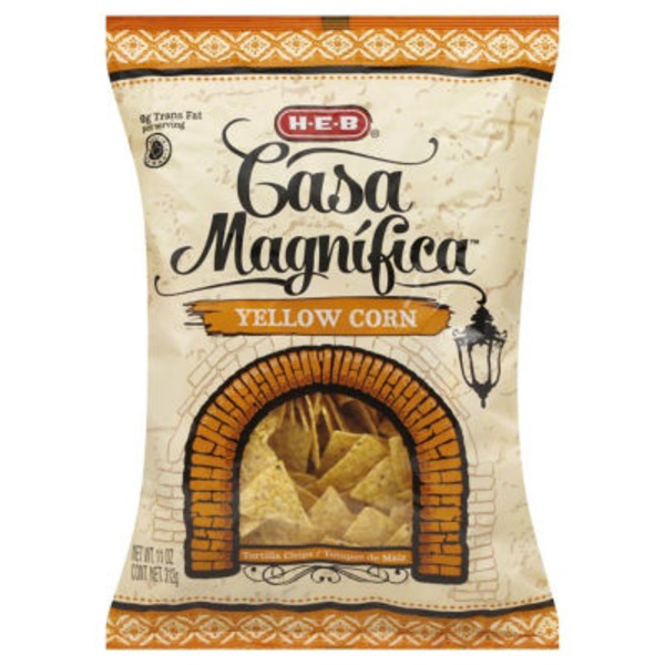 H-E-B Casa Magnifica Yellow Corn Tortilla Chips