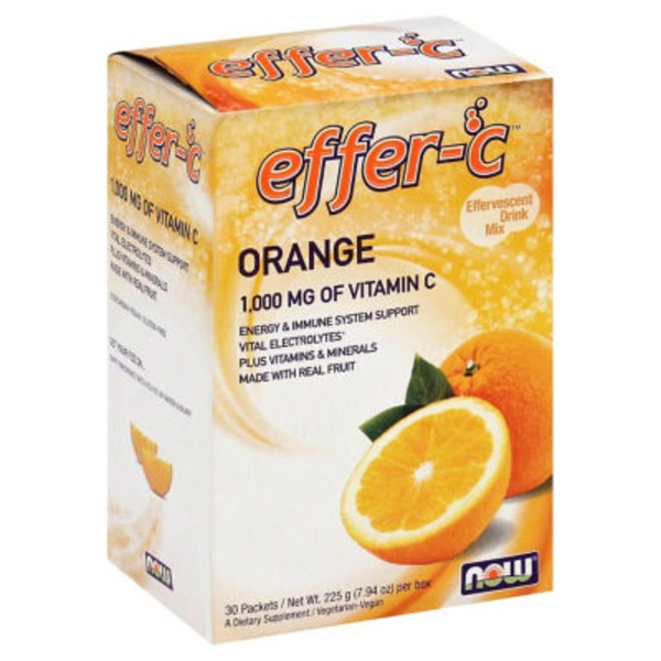 Now Orange Effervescent Drink Mix