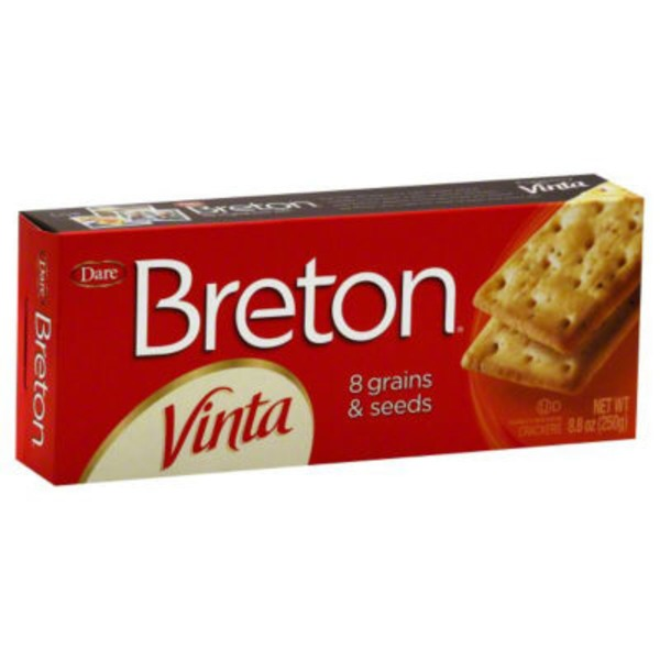 Dare Breton Vinta Crackers with 8 Grains & Seeds